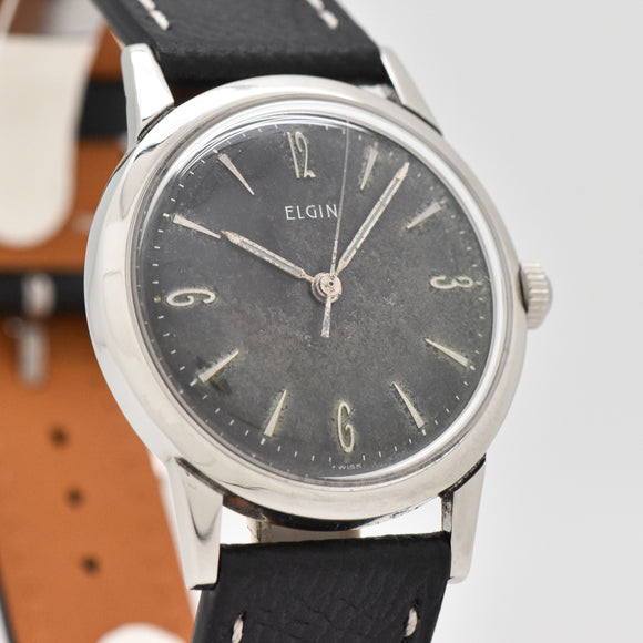 1960's-70's Vintage Elgin Stainless Steel Watch (# 13359)
