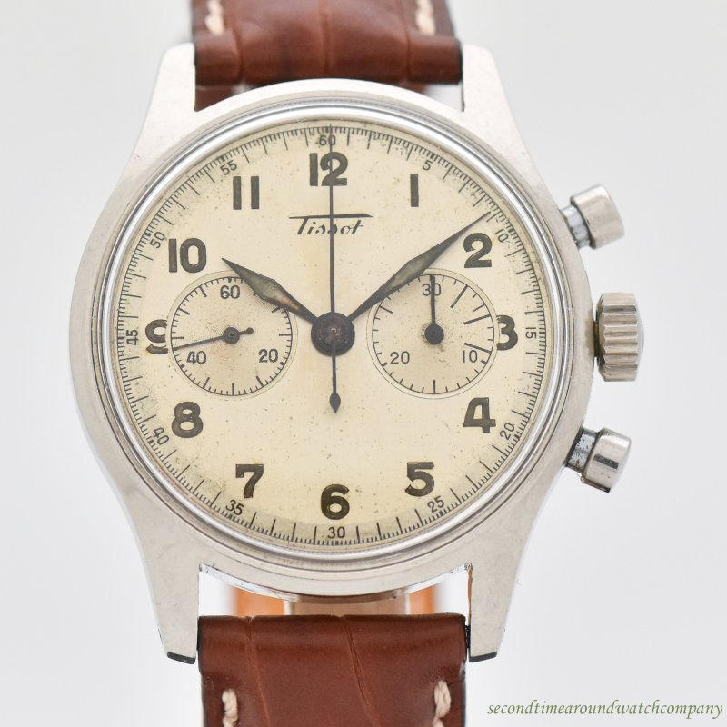 1950's-60's Vintage Tissot Reference 6220-4 Stainless Steel Watch