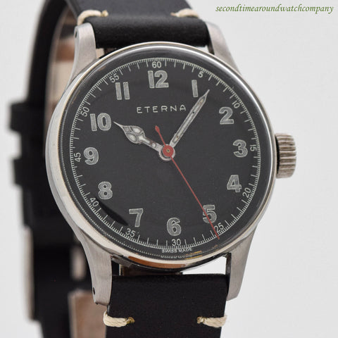 1940's Vintage Eterna Stainless Steel Watch