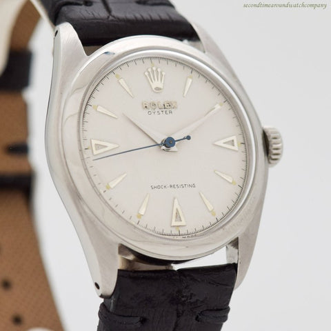 1958 Vintage Rolex Oyster Ref. 6082 Stainless Steel Watch