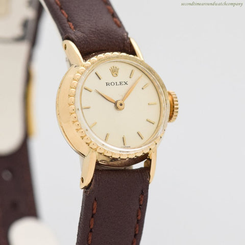 1960's-70's Vintage Rolex Ladies 18k Yellow Gold Watch