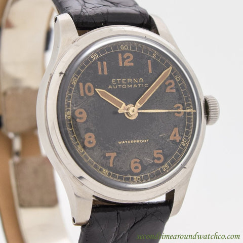 1950's Vintage Eterna Automatic Stainless Steel Watch