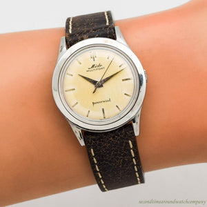 1960's Vintage Mido Multifort Powerwind Stainless Steel Watch