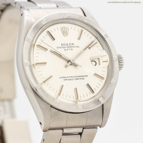 1972 Vintage Rolex Date Automatic Ref. 1501 Stainless Steel Watch