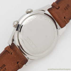 1960's Vintage Benrus Wrist Alarm Stainless Steel Watch
