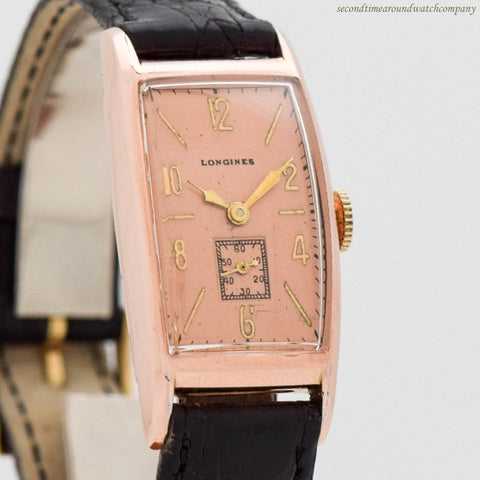 1939 Vintage Longines 10K Rose Gold Filled Watch