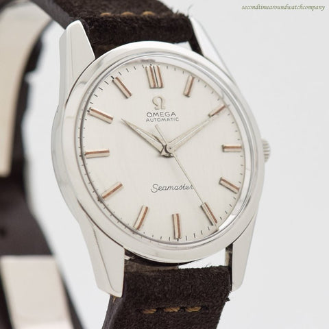 1959 Vintage Omega Seamaster Reference 14700-2-SC Stainless Steel Watch.
