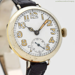 1940's Vintage Mere WWI-era Military Watch in Nickle