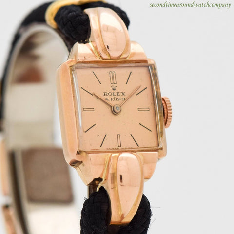 1944 Vintage Rolex Ladies Ref. 4211 14K Rose Gold Watch
