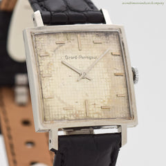 1960's Vintage Girard Perregaux Square-shaped Stainless Steel Watch