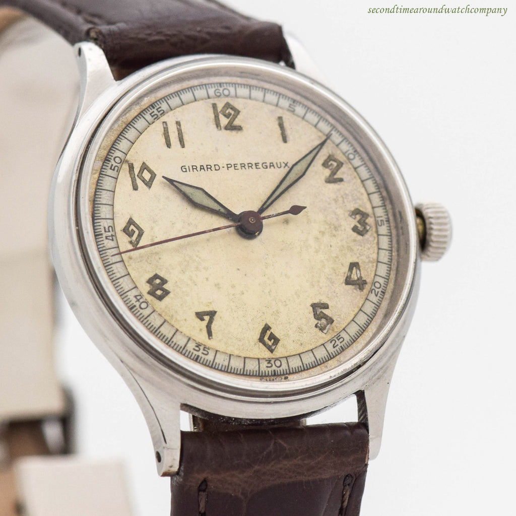 1950's Vintage Girard Perregaux Stainless Steel Watch