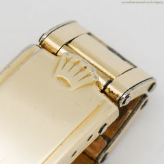 1947 Vintage Rolex Precision Ref. 4029 14k Yellow Gold & Stainless Steel Watch
