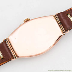 1910's-1920's Vintage H. Moser & Cie 14K Rose Gold Watch