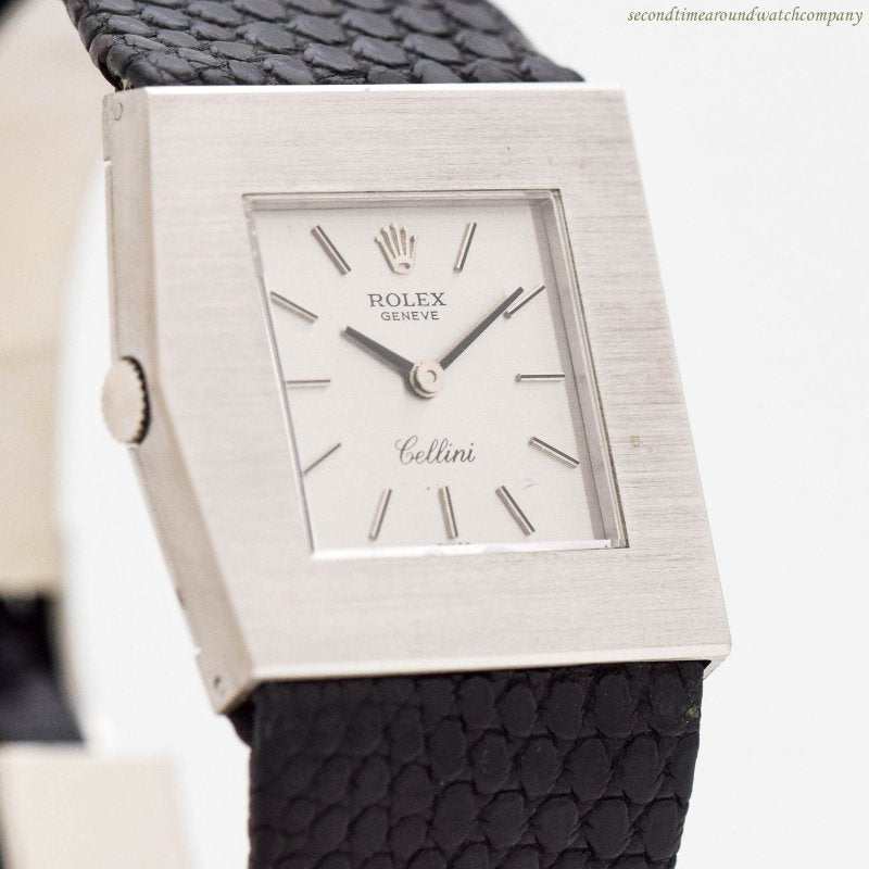 1970's era Rolex King Midas Cellini Ref. 4017-10 18k White Gold Watch