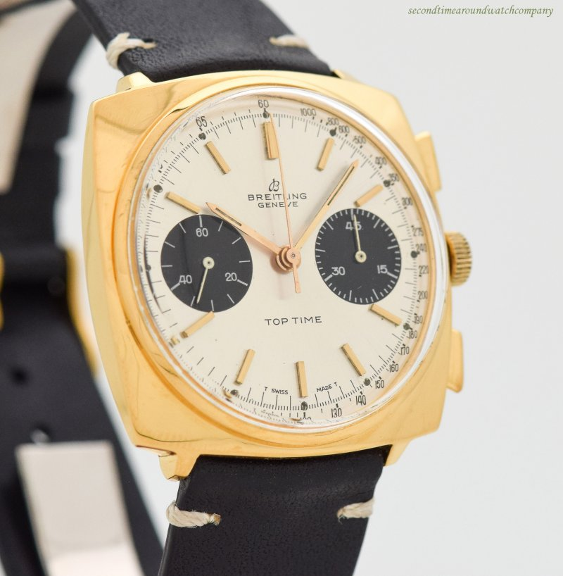 1966 Vintage Breitling Top Time Ref. 2008 Yellow Gold Plated & Stainless Steel Watch