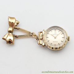 1960's Vintage Omega De Ville Ladies Yellow Gold Filled Pendant Watch
