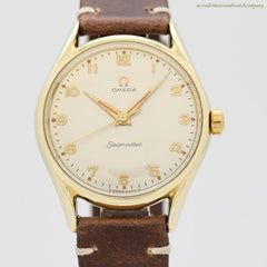 1957 Vintage Omega Seamaster Ref. 2892-2-SC 14K Yellow Gold Shell & Stainless Steel Watch