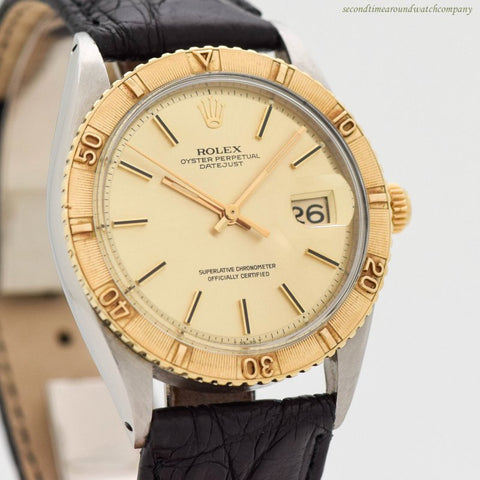 1972 Vintage Rolex Thunderbird Datejust Ref. 1625 18k Yellow Gold & Stainless Steel Watch