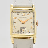 1951 Vintage Hamilton Rectangular-shaped 14k Yellow Gold Filled Watch