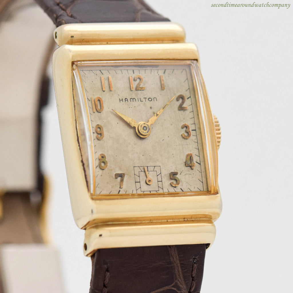 1947 Vintage Hamilton Hayden 14k Yellow Gold Filled Watch