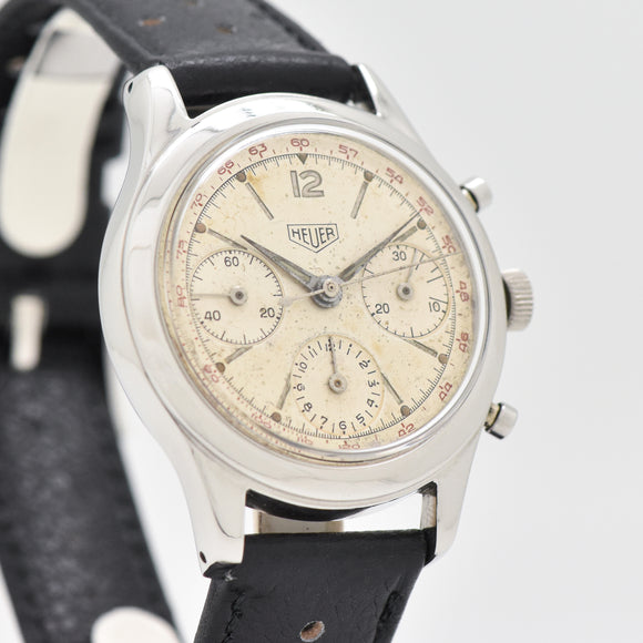 1955 Vintage Heuer Pre-Carrera Reference 2444-T Stainless Steel Watch