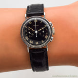 1950's Vintage Heuer 2-Register Chronograph Stainless Steel Watch