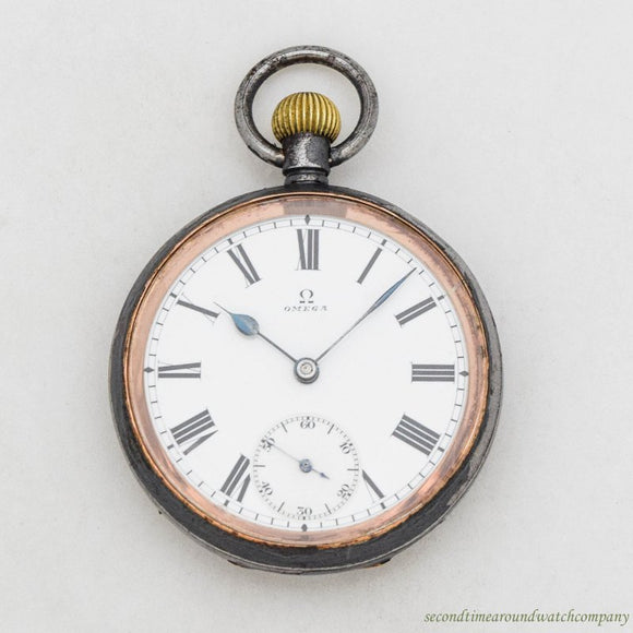 1899 Omega Pocket Watch with a Nickle Case