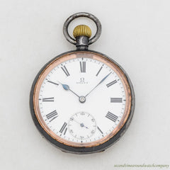 1899 Omega Pocket Watch with a Nickle Case.