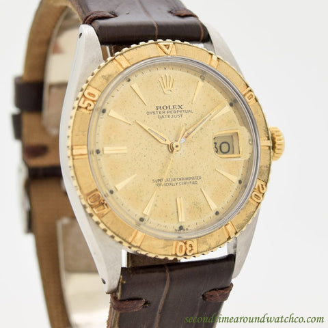1961 Vintage Rolex Thunderbird Datejust Ref. 1625 14k Yellow Gold & Stainless Steel Watch