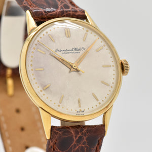 1956 Vintage International Watch Co. Cal 89 18K Yellow Gold Watch