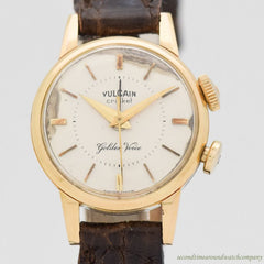 1970's Vintage Vulcain Ladies Cricket Alarm Golden Voice Yellow Gold & Stainless Steel Watch