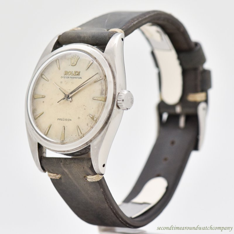 1952 Vintage Rolex Oyster Perpetual Reference 6098 Stainless Steel Watch