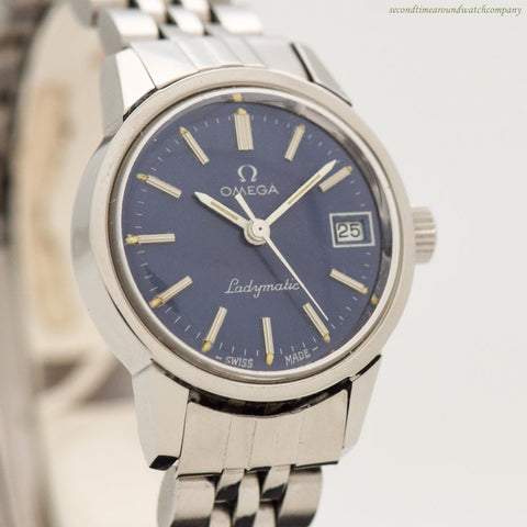 1973 Vintage Omega Ladymatic Ref. 566.0045 Stainless Steel Watch