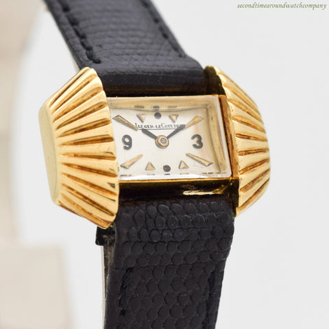 1960's Vintage Jaeger Le Coultre Ladies 18k Yellow Gold Watch