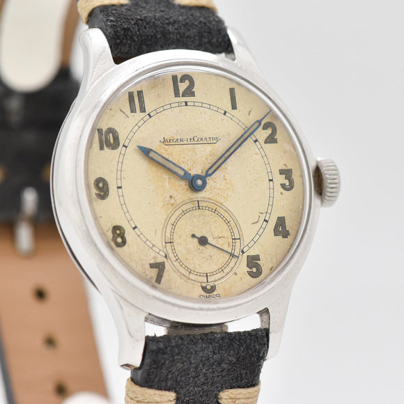 1940's-50's Vintage Jaeger LeCoultre Stainless Steel Watch (# 13422)