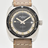 1970's Vintage Jules Jurgensen Cushion-shaped Stainless Steel Watch
