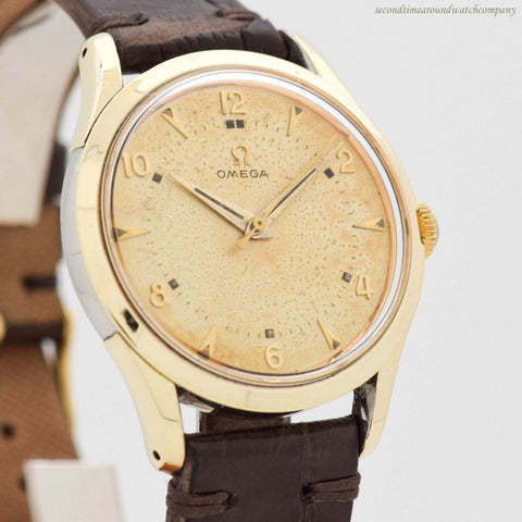 1953 Vintage Omega 2640-7-SC 14k Yellow Gold Shell Over Stainless Steel Watch