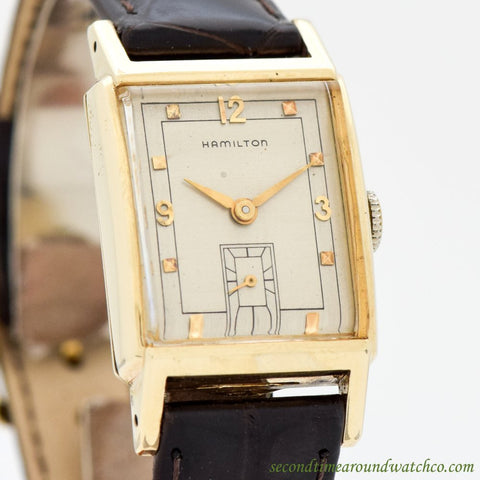 1949 Vintage Hamilton Sherman 10K Yellow Gold Filled Watch