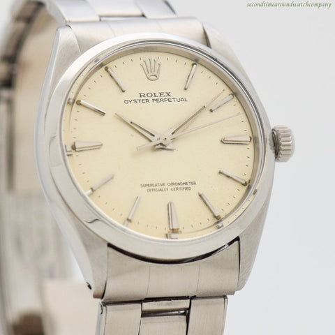 1963 Vintage Rolex Oyster Perpetual Reference 1002 Stainless Steel Watch