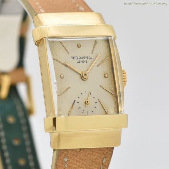 1964 Vintage Patek Philippe Top Hat Reference 1450 18k Yellow Gold Watch