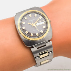 1974 Vintage Bulova Senator F Ref. T-3081 10k Yellow Gold Filled & Stainless Steel Watch