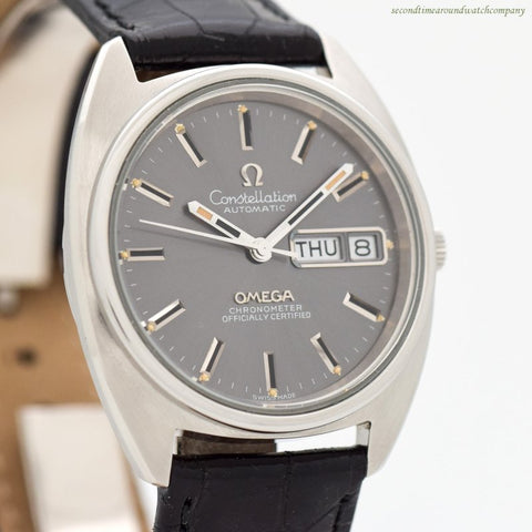 1973 Vintage Omega Constellation Day-Date Reference 168.0064 Stainless Steel Watch