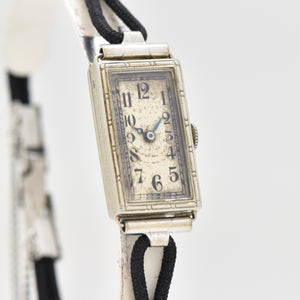 1930's Vintage American Watch Case Co. Ladies 18k White Gold Watch