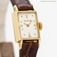 1940's Vintage Jaeger LeCoultre Ladies 14K Yellow Gold Watch