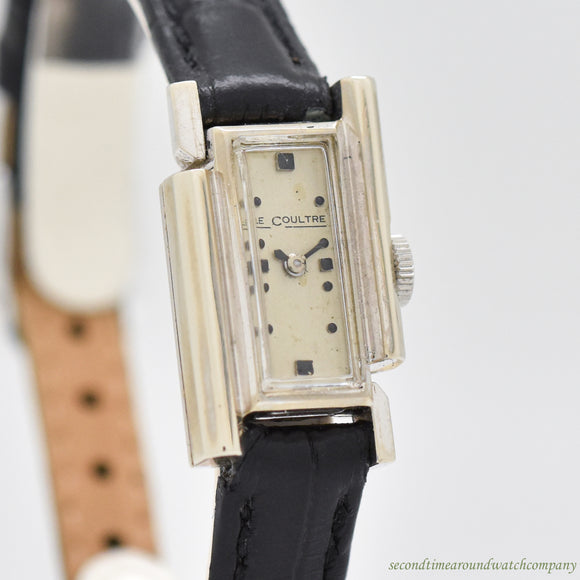 1950's-60's Vintage Jaeger Le Coultre Ladies 14K White Gold Watch