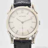 1950's Vintage Jaeger LeCoultre 10k White Gold Filled Watch