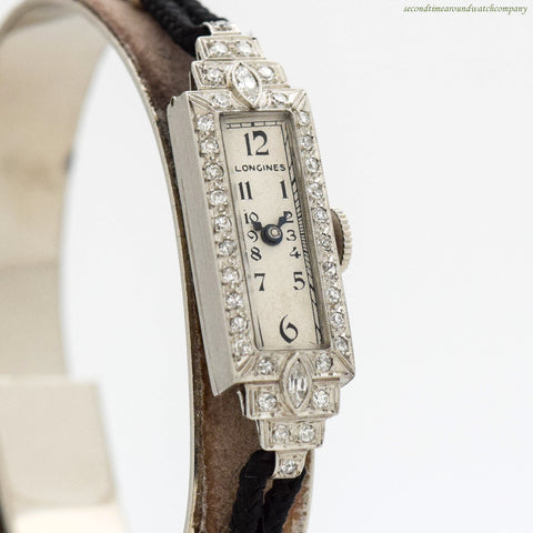 1933 Vintage Longines Ladies Diamond & Platinum Watch