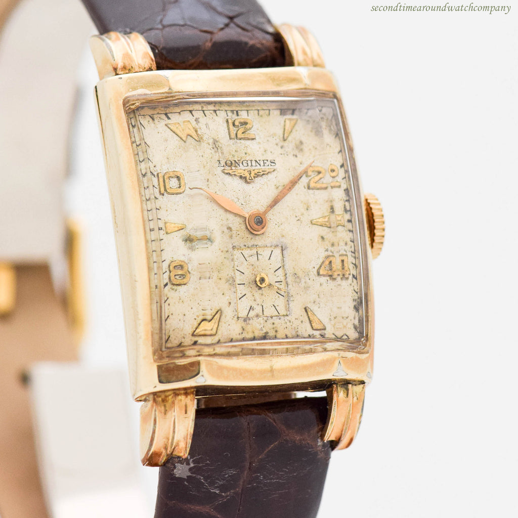 1949 Vintage Longines 10k Yellow Gold Filled Watch