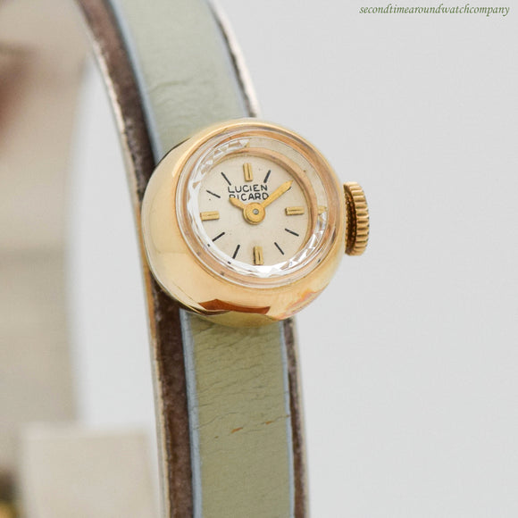 1960's Vintage Lucien Piccard Ladies 14K Yellow Gold Watch