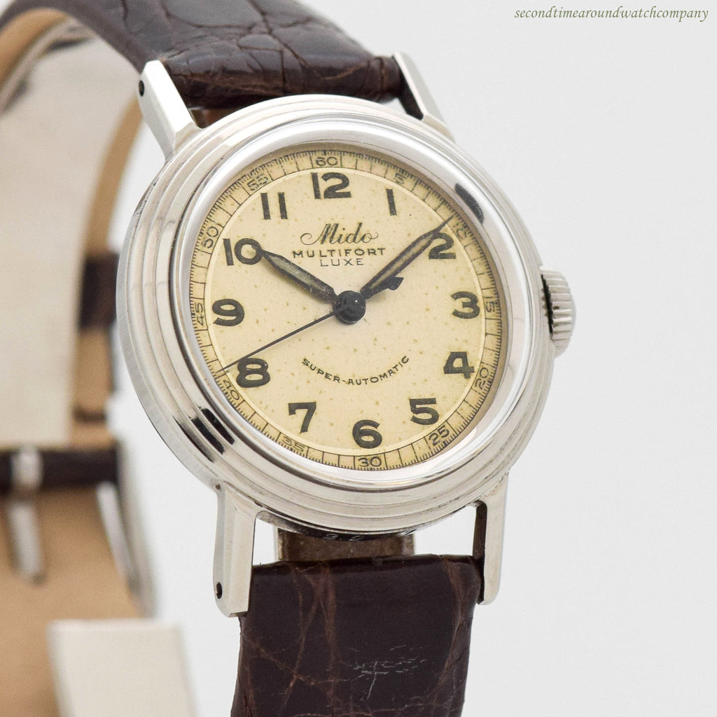 1960's Vintage Mido Multifort Luxe Ref. 2967 Stainless Steel Watch